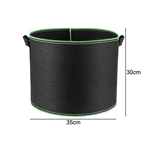 TRJGDCP Plantenzak voor kleuterschool & plantinggrow tassen tuingereedschap/grepen ronde geventileerde potten container plantentas