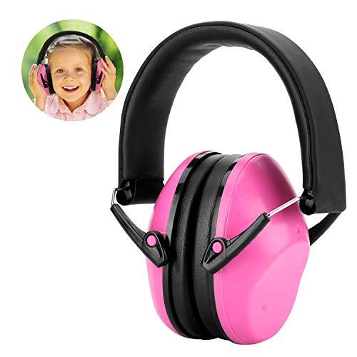 WADEO Gehörschutz Kinder Kids Baby Gehörschutz Stirnband Ohrenschützer Kidz Ohrenschützer Lärmschutzkopfhörer Für Kinder Lärmschutz Kopfhörer,Rosa