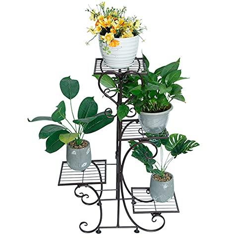 SSDM Estante De Metal para Plantas Soporte De Exhibición De Flores Soporte para Macetero De Jardín con Estantes De 4 Niveles, Estante De Flores para Decoración De Jardín Interior,C