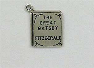 Sterling Silver The Great Gatsby Book Charm Jewelry Making Supply, Pendant, Charms, Bracelet, DIY Crafting by Wholesale Charms