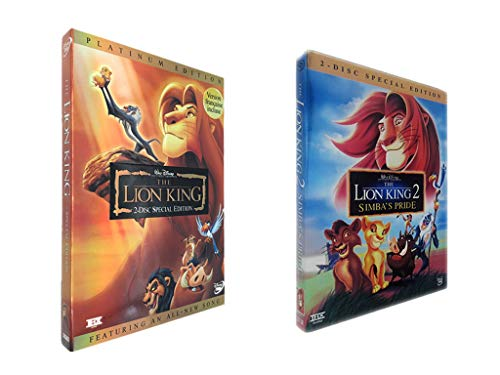 W.J.S The Lion King DVD Set, Including The First and The Second