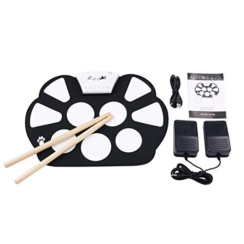 Find Discount LVSSY-Roll Up Electronic Drum Pad Kit Digital USB MIDI Keyboard Silicon Electric Drum ...