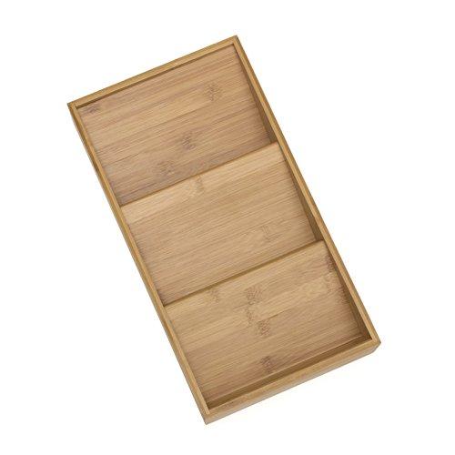 Lipper International 8886 Bamboo Wood In-Drawer Spice Organizer Tray, 15' x 8' x 2'