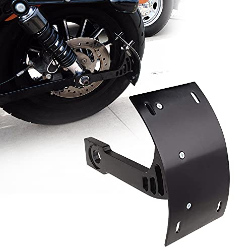 SUNPIE Motorcycle Curved Vertical Side Mount License Plate TAG Holder Bracket FITS All Sport Bikes and Cruisers. H Arley, Kawasaki