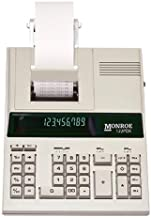 (1) Monroe 122PDX Medium-Duty 12-Digit Print/Display Calculator with The Fastest Printing Speed photo