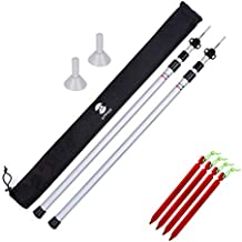 Adjustable Tarp Poles Set of 2 for Tents,Camping,Shelters,Hiking,Awnings