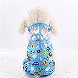FKSDHDG Chubasquero para perro con capucha impresa de dibujos animados impermeable ropa para perro transpirable perro pequeño impermeable (color: rosa, tamaño: XS)