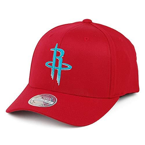 Mitchell & Ness - Cappello con stemma della squadra Houston Rockets, colore rosso/turchese rosso Taglia unica
