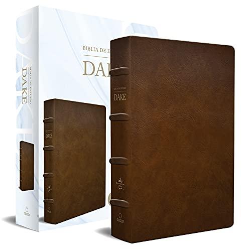 Rvr 1960 Biblia de Estudio Dake, Tamaño Grande, Piel Marrón / Spanish Rvr 1960 D Ake Study Bible, Large Size, Brown Leather