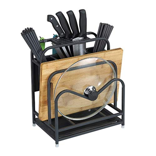 SMX Metal messenblok snijplank Chopper Droogrek Kitchen Organizer Counter Display Stand, snijplank Snijplank Tool Storage Shelf Black