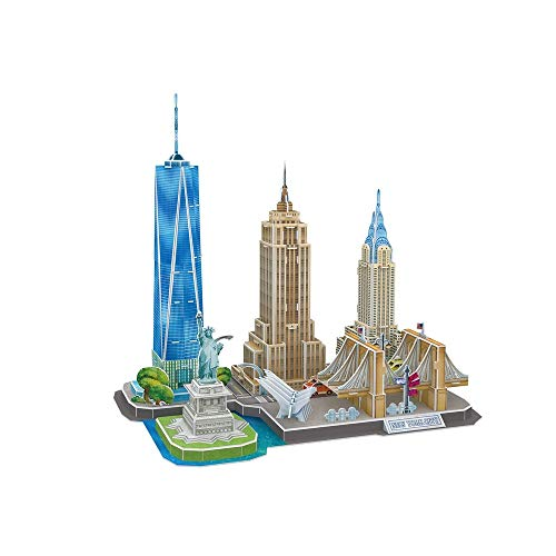SJYDQ MKJHEDLSC 3D Puzzles Building Model Kits, DIY Decoration and Souvenir Gift for Adults and Kids