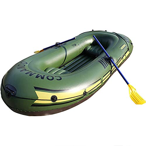 DSWFCZ Kayak per 2/3 Persone, gommone gommone gommone Gonfiabile Gonfiabile Kayak Gonfiabile in Canoa Gonfiabile in Canoa Gonfiabile Kayak Kayak Kayak (Set di 5 Pezzi) Green B