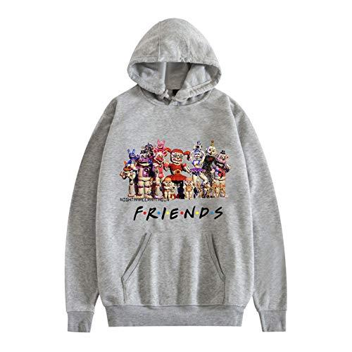 3D FNAF Cinque Felpa con cappuccio con stampa fumetti con coulisse Pullover per bambini ragazza ragazzo adulto, Tipo 2., XXX-Large