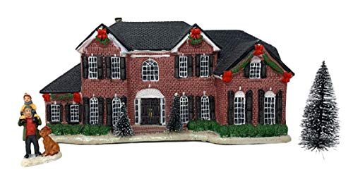 Northeast Home Goods Porcelain Neo Colonial House Miniature Lighted Home Christmas Village Building