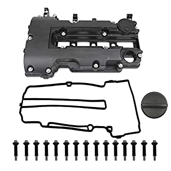 MITZONE Engine Valve Cover with Gaskets Bolts & Oil Filler Cap Compatible with 2011-2019 Chevy Cruze Sonic Volt Trax Buick Encore Cadillac ELR 1.4L Turbo Replace# 55573746 25198498 264-968