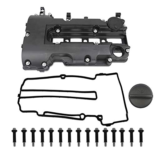 Engine Valve Cover Kit with Gaskets & Bolts & Oil Filler Cap Compatible with 2011-2020 Chevrolet Chevy Cruze Sonic Volt Trax Buick Encore Cadillac ELR 1.4L L4 Turbo Replace# 55573746 25198498 264-968