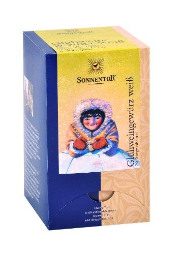 Sonnentor Glühweingewürz weiß Aufgussbeutel, 3er Pack (3 x 36 g) - Bio