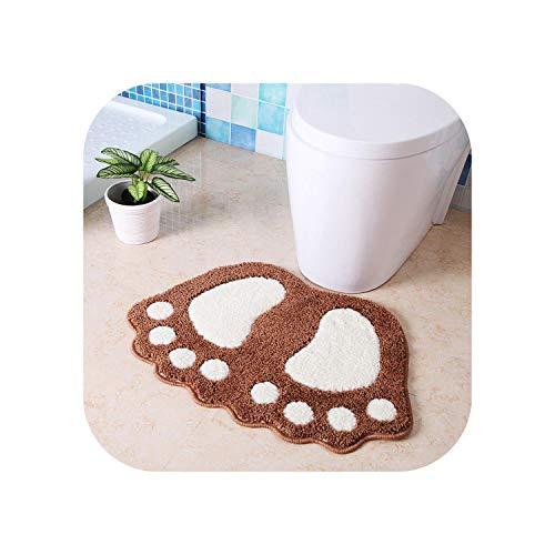 Star Harbor Shapers Shag Teppiche |Cartoon Füße Multifunktion Für Wohnzimmer Teppich Rutschfester Teppich Badezimmer Toilette Wasseraufnahme Quadratfuß Pad Dekorativ-Kaffee-40x60cm