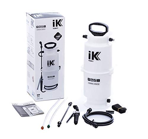 iK Foam 9 Large Pump Sprayer | 1.3 Gallon | Professional Auto Detailing; Dry/Wet Foam Spray