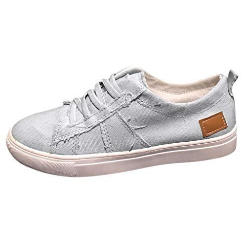 FeiBeauty Unisex-Erwachsene Espadrilles, Sommer-beiläufige flache mit Boden versehene einzelne Schuh-Schnürschuh Mode Freizeitschuhe