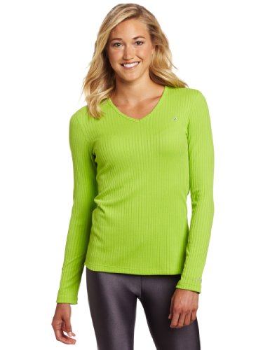 ASICS Rib I Tech - Camiseta de Manga Larga para Mujer, Mujer, Color Verde, tamaño S