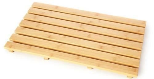 Bambú Junta de pato de madera natural madera baño oval rectangular ducha...