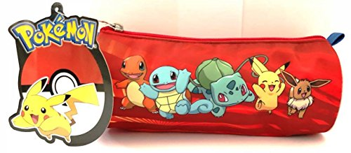 astuccio pokemon CR GROUPS TOMBOLINO Porta Penne Scuola Pokemon Rosso Friends