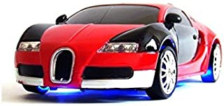 Liberty Imports Super Fast Drift Red Model R/C Sports Car Remote Control Drifting Race Car 1:24 + Headlights, Backlights, Side Lights + 2 Sets of Tires