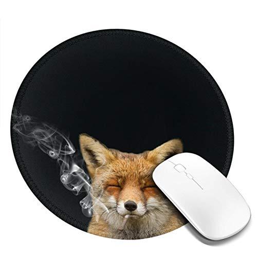 DPQZ Alfombrilla de ratón redonda antideslizante con base de goma para jugar y portátil