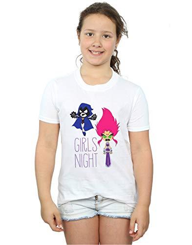 DC Comics Niñas Teen Titans Go Girls Night Camiseta Blanco 7-8 Years