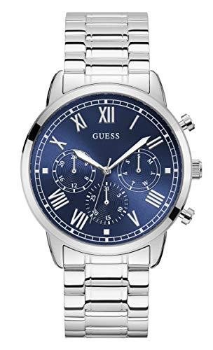 Reloj Guess Hendrix W1309G1 para Hombre, Esfera Azul, Acero y Caja de 44 mm