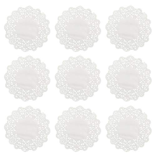 BESTOMZ 100 Stücke Tortenspitze Papier Weiß 5,5 zoll