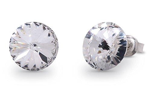 Exklusive Swarovski® Kristalle in Ana Morales Damen-Ohrringen 925 Sterling Silber