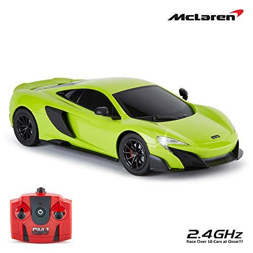 CMJ RC Cars ™ McLaren 675LT Offiziell Lizenziertes ferngesteuertes Auto im Maßstab 1:18, Arbeitsscheinwerfer 2,4 GHz, grün