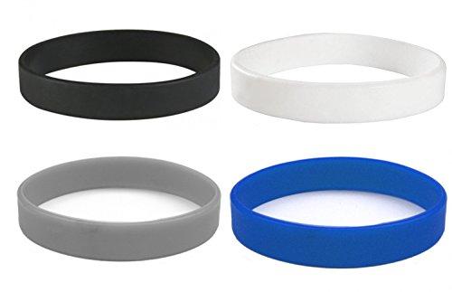 Beyond Dreams 4 braccialetti in silicone per donne e uomini, accessori fitness, Blau Schwarz Grau Bianco