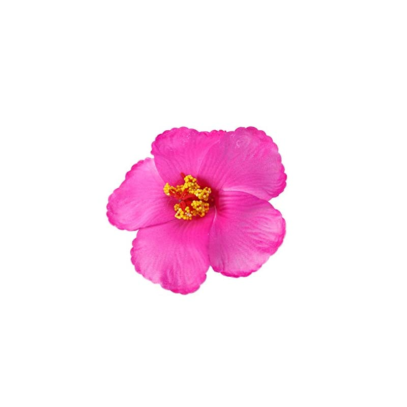 silk flower arrangements toyvian artificial flowers heads hibiscus hawaiian flowers for craft diy art project scrapbooking tabletop decoration tropical luau party favors supplies rose red