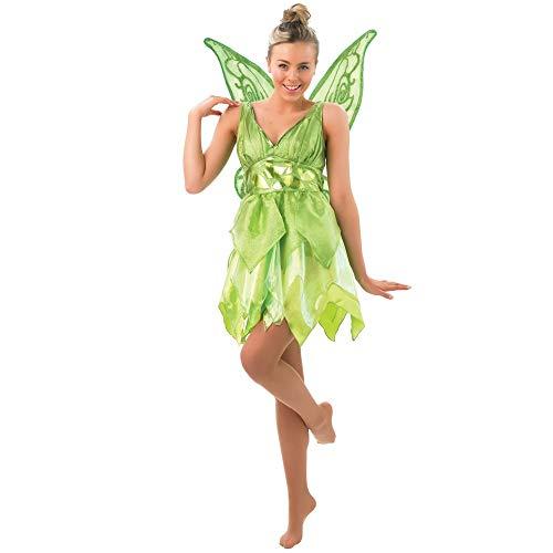 Peter Pan - Disfraz de Hada Campanilla para mujer, Talla S adulto (Rubies 880998-S)