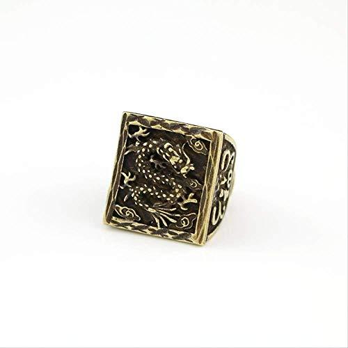 Decoratieve Ornamenten Mode Persoonlijkheid Ring Prachtig Gesneden Draak Patroon Retro Oude Ring