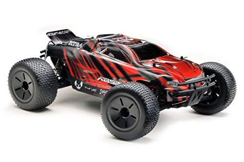 RC Auto kaufen Truggy Bild 3: Absima Hot Shot Absima 1:10 RC Modellauto AT3.4 Truggy mit Brushed Elektroantrieb und Allradantrieb als Bausatz, Rot, Grau, Schwarz*