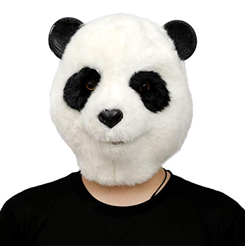 CreepyParty Halloween Kostüm Party Tierkopf Latex Maske Plüsch Panda Karneval Masken