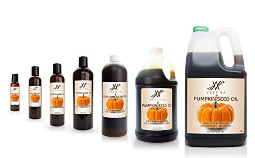 100% Organic Pumpkin Seed Oil by Velona | All Natural for Hair, Body and Skin Care | Unrefined, Cold Pressed | Size: 48 OZ