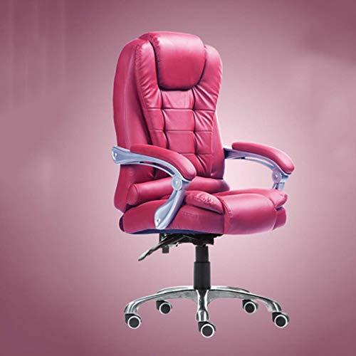 ZTBXQ Home Küche Schlafzimmer Stühle Sofas Studie Computer Stuhl Home Office Stuhl Leder Drehstuhl Office Boss Stuhl Wohnzimmer Schlafzimmer Massagestuhl Bequemer Stuhl (100% Rindsleder) (Farbe: