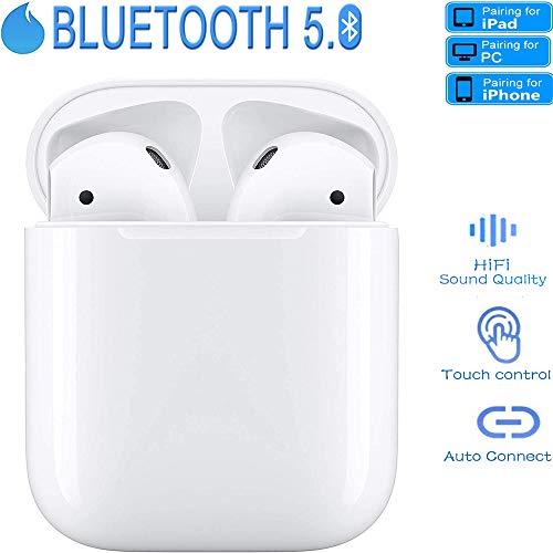 Auriculares Inalámbricos Bluetooth 5.0,TWS estéreo Auriculares Deportivos En La Oreja,con Caja de Carga Portátil 950 mAh, IPX7 Impermeable,para Android/iPhone/Apple AirPods Pro/Samsung/iPad/PC
