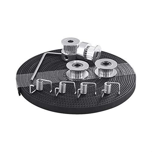 VIKTK 3D-Druckerteile GT2-Riemenscheibe 20 Zähnebohrung 5mm GT2 6mm Zahnriemen 2X Idler 4X Spanner Fit Für I3 3D-Drucker-Kit