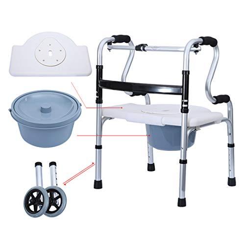 Silla WC|Abatibles Silla de Inodoro| Portátil Altura de elevación Ajustable|Alzador de Portátil...