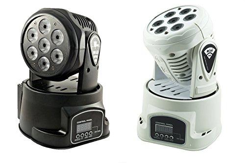 - Senza marca/Generico - Faro FARETTO 7 LED RGB Testa Rotante Effetti Disco DJ Luce Flash MD-710