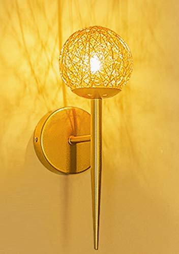 Wall Mounted Light Aluminum Wire Cage Lamp Shade Indoor Lighting Fixture for Bedroom Hallway Living Room Decorative Lighting