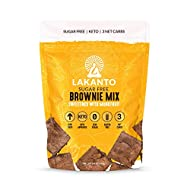 Lakanto Sugar Free Brownie Mix - Sweetened with Monkfruit Sweetener, Keto Diet Friendly, Delicious Dutched Cocoa, High in Fiber, 3g Net Carbs, Gluten Free, Easy to Make Dessert (Pack of 1)