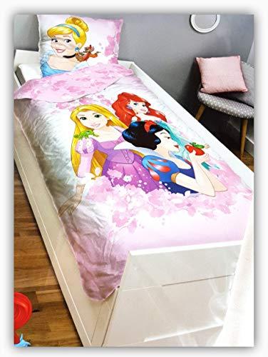 store Disney Bettwäsche Princess Prinzessinnen Bettbezug 135 x 200 cm + 80 x 80 cm Kissenbezug