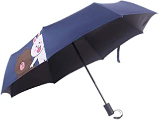 Automatic Folding Umbrella, Cartoon Automatic Umbrella, Easy to Carry One-Button Open Suitable for Both Men and Women ,with Ergonomic Handle